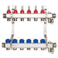 Коллекторная группа напольного отопления с расходомерами, 2 контура