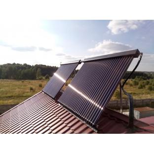 Сдана в эксплуатацию гелиосистема на солнечных коллекторах