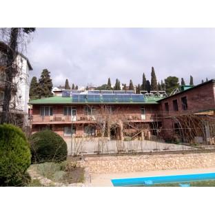 Сдана в эксплуатацию гелиосистема для гостиницы в г. Ялта